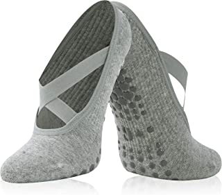 女士瑜伽袜,带抓地力 适用于普拉提、纯赤脚锻炼