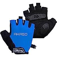 AKASO 自行车手套 半指自行车手套 减震 防滑 透气 MTB DH 公路自行车手套 男女适用