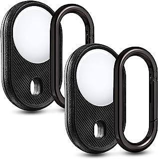 Guidemoh 适用于 AirTag 支架 2 件装,防震盖环钥匙扣,与 Apple Airtags 配件兼容
