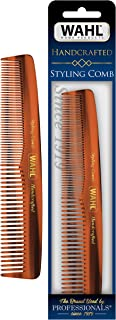 Wahl 华尔胡须、胡子和*造型梳子 - 手工和手工切割醋酸纤维素 - 光滑圆锥齿 - 型号 3328
