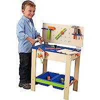 KidKraft 儿童豪华木制维修工作台(带工具及配件) 小孩和幼童的玩具体验桌套装