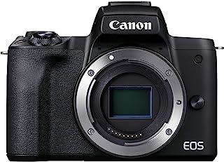 Canon 佳能 EOS M50 Mark II 仅机身(黑色) - 专为内容创作者和流媒体设计的强大无反光摄像头(4K,多角度屏幕,HDMI 输出,麦克风连接,YouTube 直播)