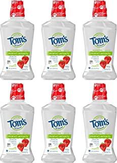 Tom's of Maine 儿童防蛀含氟漱口水,草莓味,16 盎司(约 453.6 克)6 件装