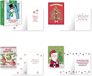 B-THERE 12 张盒装圣诞贺卡 - 传统、箔和闪光饰面带信封