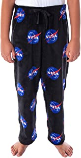 NASA 男孩肉球标志全身印花超柔软毛绒羊毛休闲睡裤