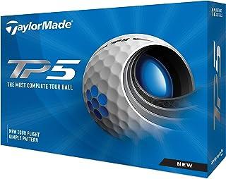 TaylorMade 泰勒梅 Unisex's TP5 高尔夫球,白色,均码