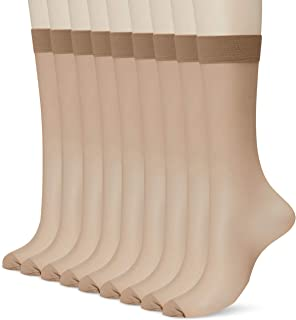 ATSUGI 厚木 紧致美观 长筒袜 膝盖以下长度(3双为1套,3套装)