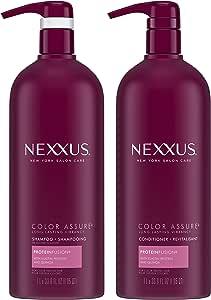Nexxus 护色洗发水+护发素,适用于染色后秀发,33.8盎司(1升),2件
