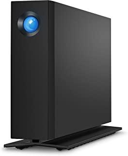 LaCie 莱斯 d2 专业4TB外置硬盘桌面硬盘 – Thunderbolt 3 USB-C USB 3.0,7200 RPM 企业级硬盘,适用于Mac和PC台式机,1个月Adobe CC(STHA4000800),黑色