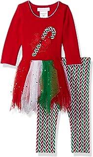 Bonnie Baby 女童贴花蓬裙连衣裙和打底裤套装