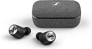 Sennheiser 森海塞尔 Momentum True Wireless 2 入耳式蓝牙耳机,具有主动降噪,智能暂停,可自定义触摸控制,拥有28小时的电池寿命-黑色(M3IETW2黑)