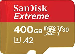 SanDisk 闪迪 Extreme microSDXC UHS-I 存储卡 400GB + 适配器&Rescue Pro Deluxe(适用于智能手机,运动相机和无人机,A2,C10,V30,U3,160MB/s 传输速度)