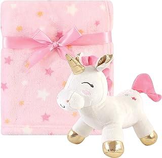 Luvable Friends 中性款婴儿独角兽主题婴儿床上用品套装,独角兽毛毯和玩具,均码