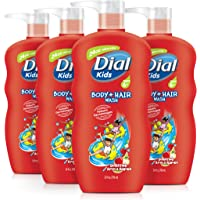 Dial Kids Body + Hair Wash, Bursting Apple Rapids, 24 Ounce…
