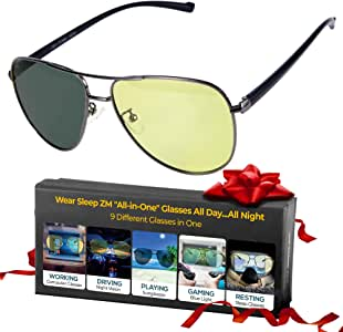 一體式藍光眼鏡 + 變色太陽鏡 + 偏光駕駛眼鏡 + 偏*眼鏡 - 女士和男士全天都能看到更好 - *更好 - 止眼* - 停止*