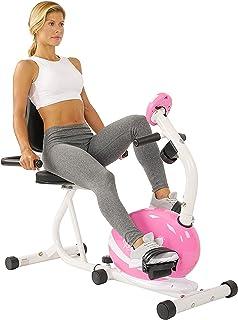 【美亚同款】SUNNY HEALTH&FITNESS 家用磁控卧式健身车懒人车P8400【坐着就能锻炼 老人康复训练 懒人必备】(亚马逊自营商品, 由供应商配送)
