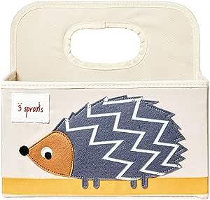3 Sprouts 婴儿尿布盒 - 幼儿整理篮 刺猬