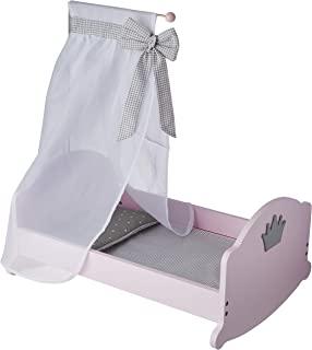 """roba 娃娃摇篮 """"Sophie"""" 系列 娃娃摇篮 包括纺织设备,床上用品和天空,娃娃配件粉红色"""