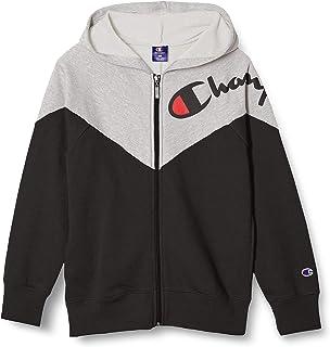 [Champion] 连帽卫衣 纯棉 字母标志 全拉链连帽运动衫 男孩 运动 CK-TS105
