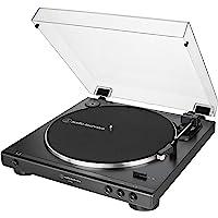 Audio-Technica 铁三角 AT-LP60X-BK 全自动皮带驱动立体声转盘,黑色,高保真,2速,防尘罩,抗共…