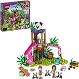 LEGO Friends 熊猫丛林树屋 41422 搭建玩具;包括 3 个熊猫迷你公仔,适合热爱野生动物动物、朋友、米娅…