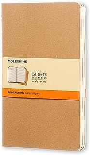 Moleskine Cahiers 棕色横间轻便笔记本(大型)