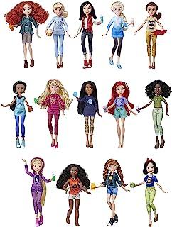 Disney Princess 电影Ralph Breaks The Internet《无敌破坏王2:大闹互联网》角色娃娃 穿着舒适的衣服和配饰,14 个娃娃多件套装