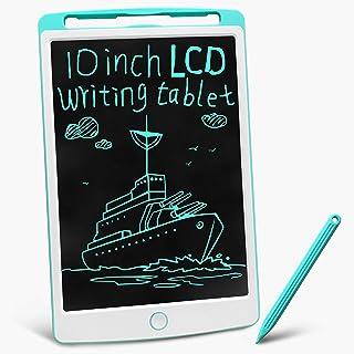gkcity LCD 书写平板涂鸦迷你板,带触控笔,可擦除便携式备忘录记事本,适用于儿童学习玩具生日礼物,数字电子作家电子图形 10 英寸(约 25.4 厘米)绘图垫(蓝色