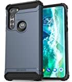 Encased Scorpio 专为摩托罗拉 Edge 手机壳 (2020) 保护性坚固的手机壳(石板蓝)