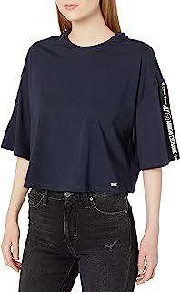 A|X Armani阿玛尼Exchange女士半身衬衫,带Ax标志带扣袖