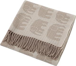 东京西川 披肩 棕色 70X140cm 芬里森 爱丽丝(大象)羊毛 FQ78503016BR