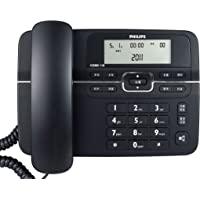 PHILIPS 飞利浦 CORD118 大屏幕 免电池工作来电显示电话机(黑色)
