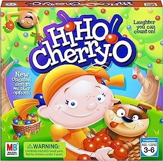 Hasbro 孩之宝 Hi Ho Cherry-O 桌面游戏 练习点数数字和数学,学前 3 岁及以上亚马逊独家发售