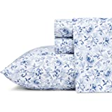 Laura Ashley 219212 Lorelei 棉床单套装 蓝色 Queen 219212