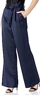 HALSTON 女式飘逸缎长裤