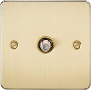 Knightsbridge FP0150BB 拉丝黄铜 FPAV0150BB 平板 1G 卫星电视插座(非隔离)