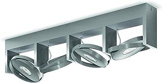 Philips myLiving Particon 保暖发光可调光 LED 聚光灯,4.5 W LED 灯,易于安装,即时启动 - 铝 铝 Four Spot Bar 915005306901
