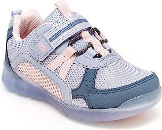 Stride Rite 女童 Made2play Levee 跑鞋,蓝色多色,9 宽幼童美国