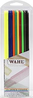 Wahl 专业造型剪发梳多色可选 #3206-200 - 非常适合专业造型师和理发夹 - 12 片