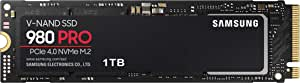 Samsung 三星 980 PRO 1 TB PCIe 4.0 (高达 7000 MB/s) NVMe M.2 (2280) 内置固态硬盘(SSD) (MZ-V8P1T0BW)