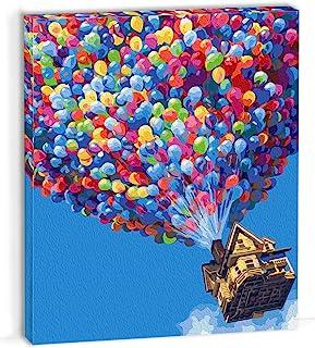OyeArts 成人数字裱框绘画套装,DIY 帆布丙烯酸绘画全彩色套装带框架,适合初学者到高级初学者 - 16x20 英寸 - 气球