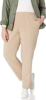 红宝石。 女式小号套穿弹力法式厚绒布裤