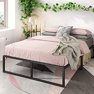 Zinus 14 英寸 Platforma 床架/床垫粉底/无盒子弹簧针/钢板支撑