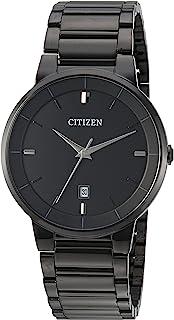 CITIZEN 黑色离子镀手表