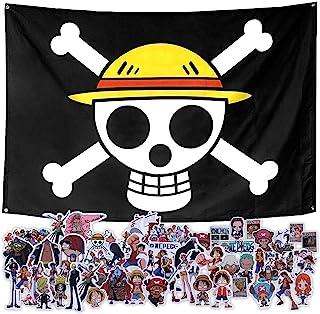 海贼王路飞海盗旗角色扮演游戏草帽墙壁 Jolly Roger 动漫想要的海报贴纸 50 件好莱坞装饰