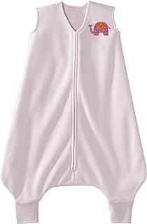HALO 赫拉 安全睡袋 大童 超细摇粒绒 可伸脚 粉色大象 2-3岁 秋冬厚款