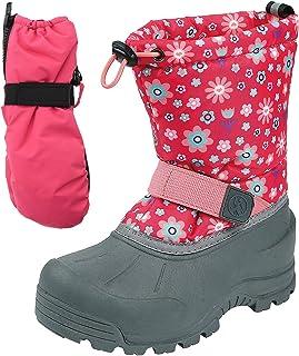 Northside Frosty 雪地靴搭配防水手套(幼儿、儿童、青少年)