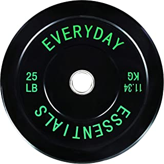 Everyday Essentials 彩色编码奥林匹克杠板配重板 W 钢轮毂