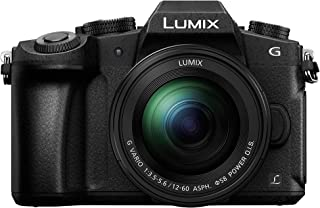 Panasonic 松下 Lumix G80M   混合摄像机 热带相机 + 混合镜头 12-60 毫米(传感器 4/3 16 MP,双棒,OLED,东方显示屏,Tact,AF DFD,视频4K)黑色 - 法语版本