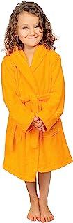 *儿童浴袍 - GOTS 认证*土耳其棉质中性款连帽浴袍 - 女孩,土耳其制造